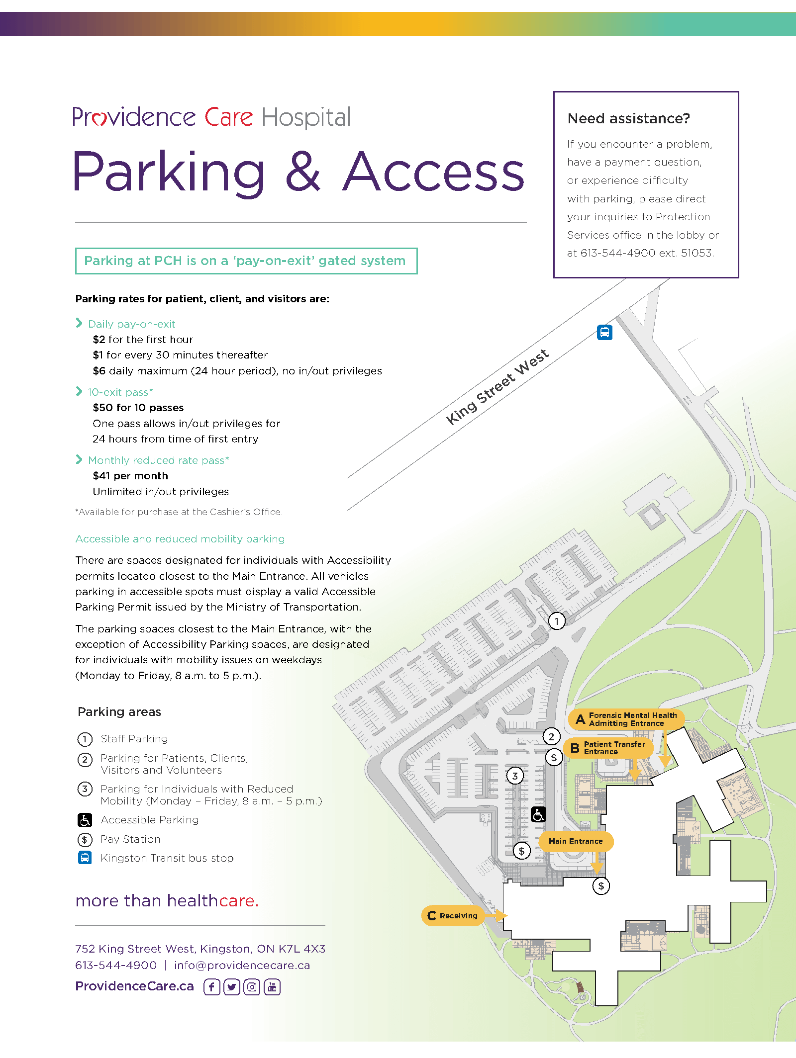 Parking at PCH - Providence Care