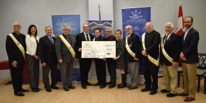 Knights of Columbus cheque presentation for Providence Manor